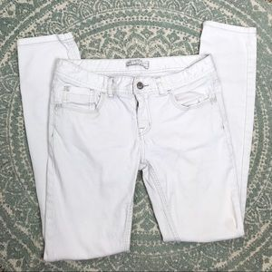 Free People White Skinny Jeans 28